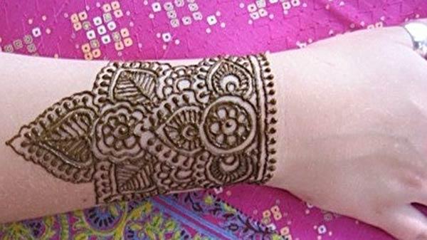 Csukló Henna / Mehndi tetoválás terv ötlet