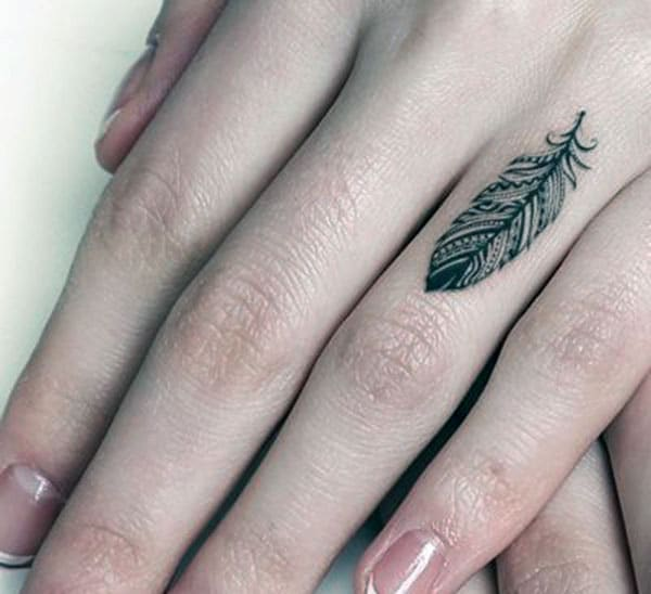 Tiny tattoo the finger brings about the memory or makes it as a reminder
