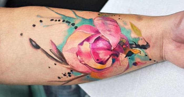 Watercolor Forearm Tattoos foar Girls