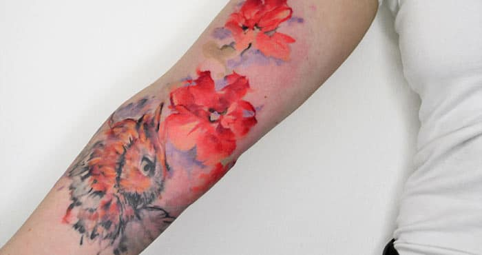 Watercolor Hand Tattoos for Girls-24