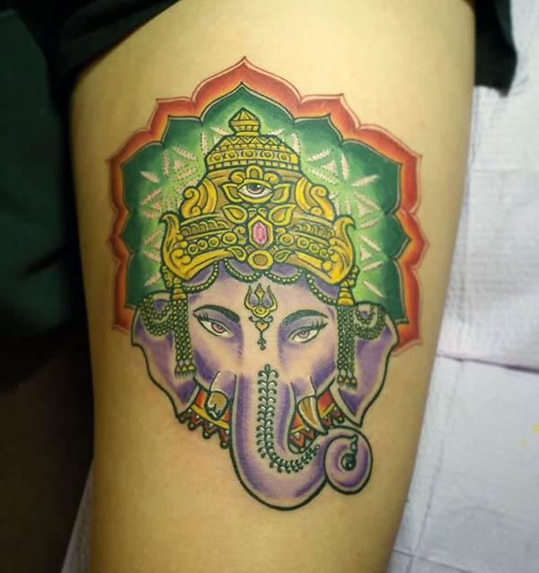 Cool Ganpati bappa moray tattoo ink ra'ayin