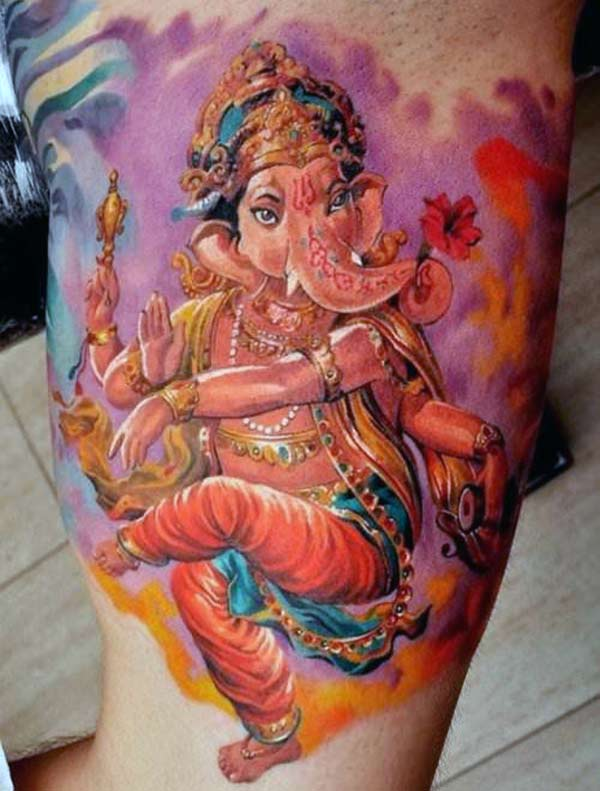 Awesome Ganesha Tattoo ink Idea for hands