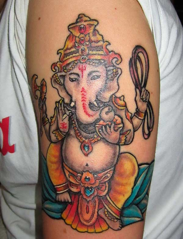 Unikt Ganesha Ink Tattoo Design for menn