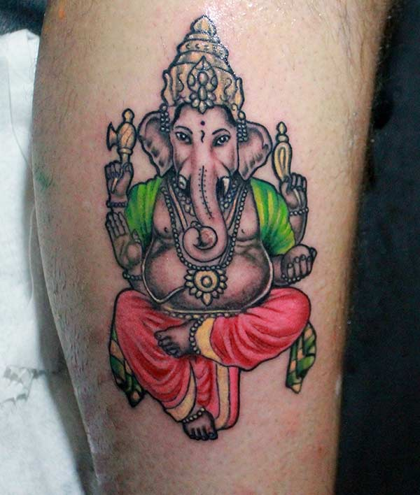 Ultimate Ganpati Bappa tattoo ink idea for hand