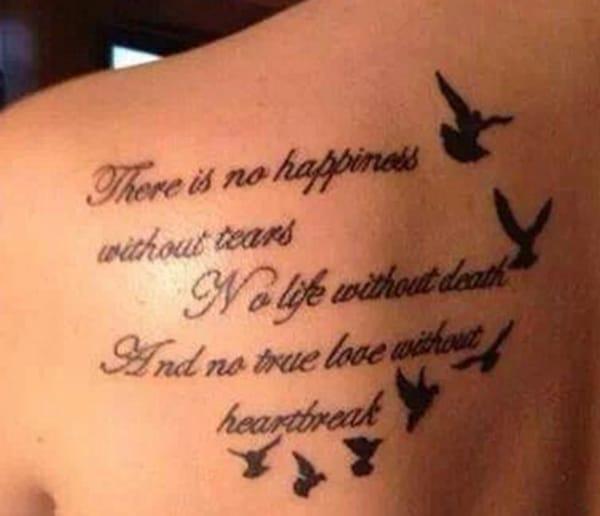 אין אושר בלי דמעות, אין חיים בלי מוות