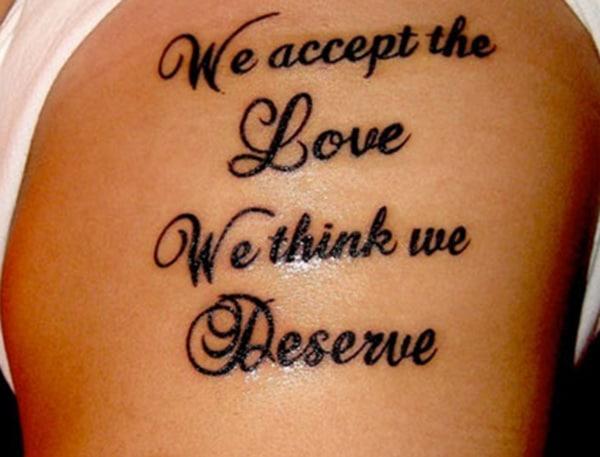 ہم وہ محبت قبول کرتے ہیں جس کے ہم مستحق ہیں