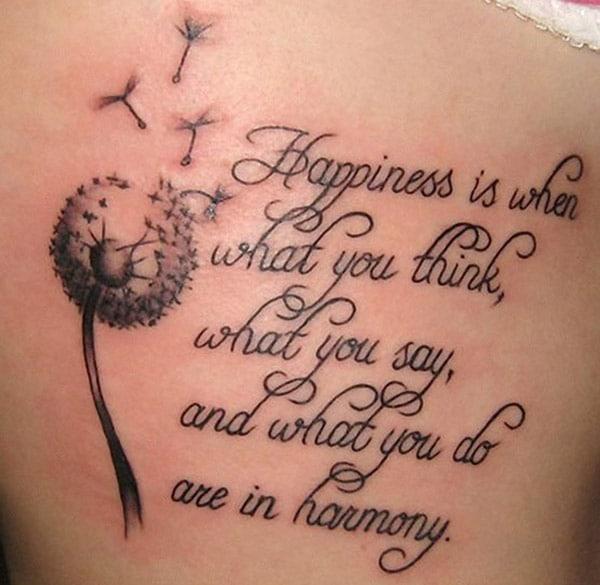 האושר הוא כאשר מה שאתה חושב, מה שאתה אומר