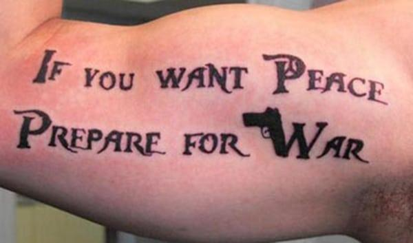 Als men vrede wil moet men zich op een oorlog voorbereiden