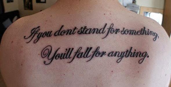 Если вы не стоите за что-то, вы будете падать за что-нибудь