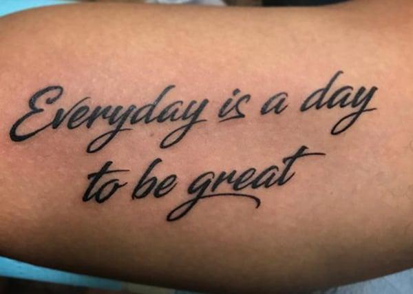 Elke dag is een dag om geweldig te zijn