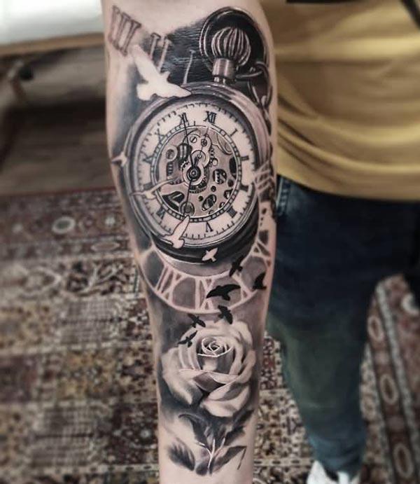 Vintage jam saku tattoo design gagasan keur budak