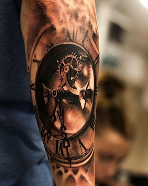 Mékanis jam tattoo tinta gagasan keur budak