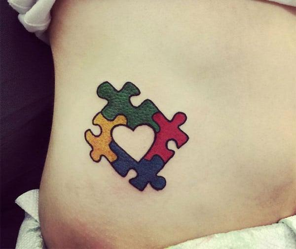 Autism Tattoo on the side make a man look cool