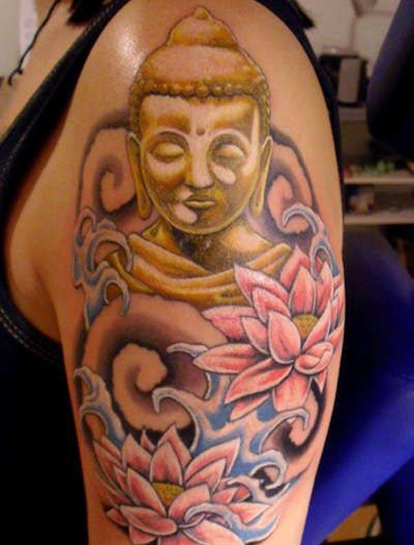 Buddha Tattoo for Women with this ink design make them look attractive