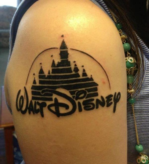 Disney Tattoo for the shoulder gives the captive look in girls