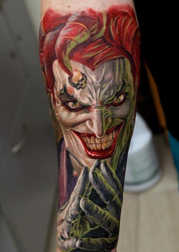 Joker Tattoo on the arm make a man look comely