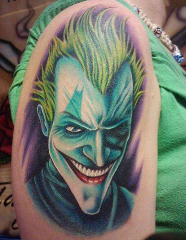 Joker Tattoo for the shoulder gives the captive look in girls