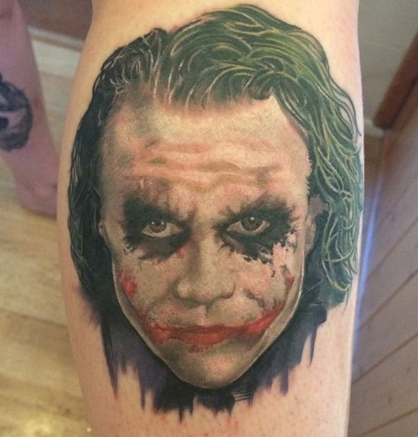 Joker Tattoo for men with the drawing make them look magnificent