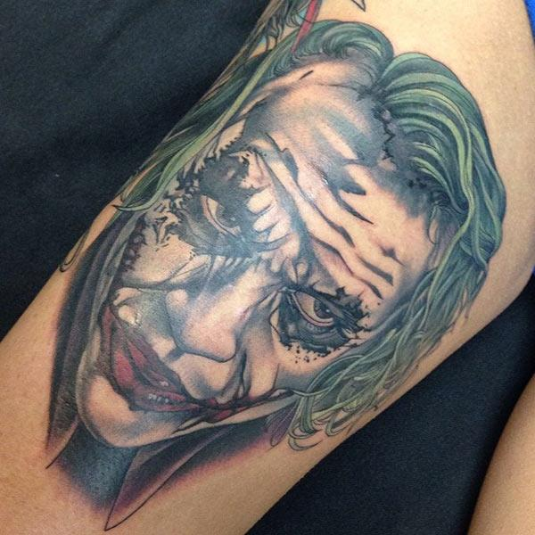 Joker Tattoo for men makes them look spruce
