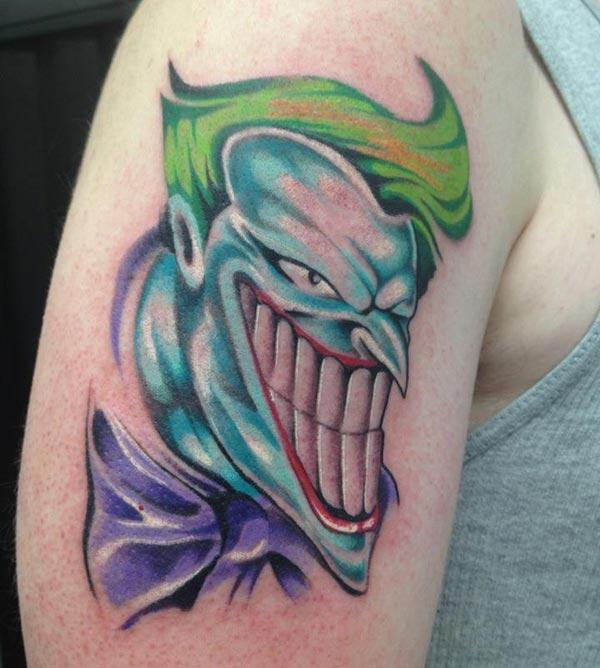 Joker Tattoo on the shoulder makes a girl alluring