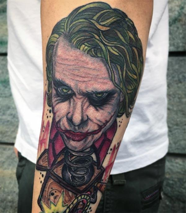 Joker Tattoo on the lower arm makes a man look captivating