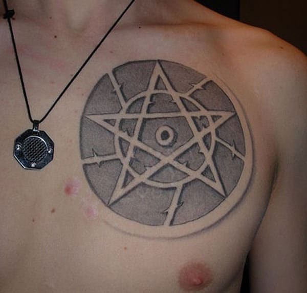 The Supernatural Tattoo on the upper chest make a man have a majestic appearance