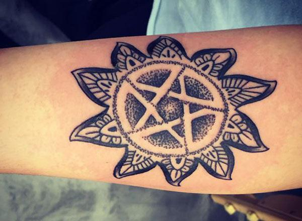 Supernatural Tattoo on the leg make a girl look classy