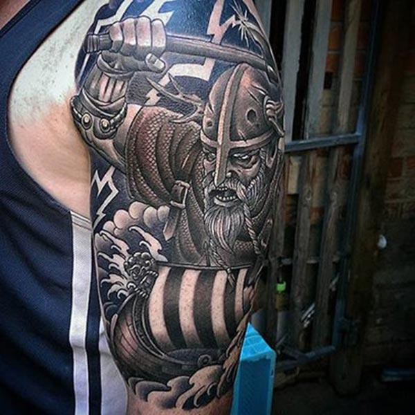 Men make a divine Viking tattoo on their left shoulder to make them attractive