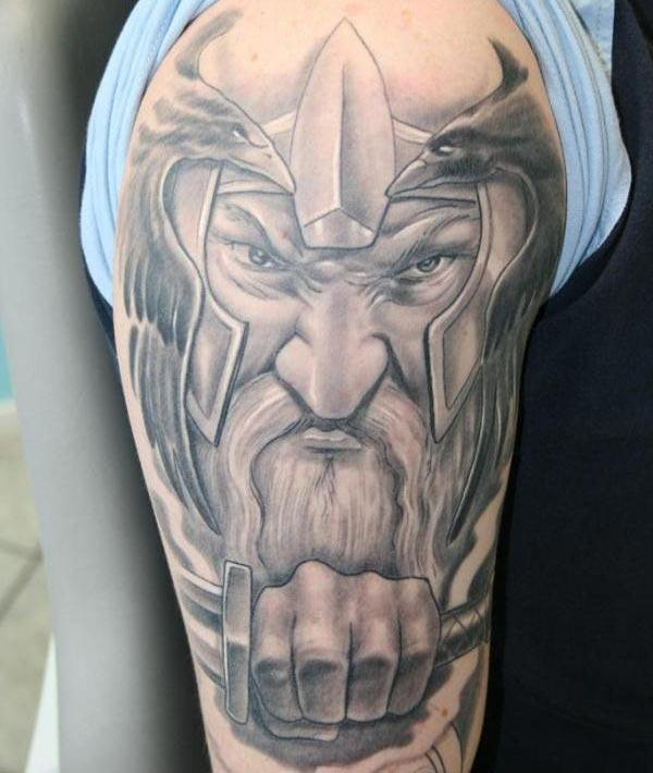 Viking tattoo for men makes them look spruce