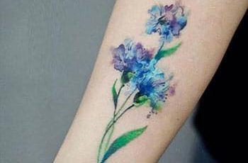 Watercolor Hand Tattoos for Girls