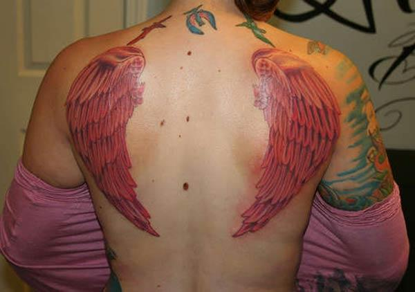 Wing Tattoo on the back brings the astonishing in girls