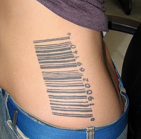 Barcode tattoo on the side make a man look cool