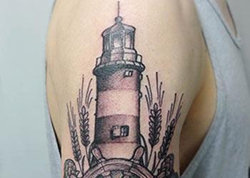 best lighthouse tattoo design ideas