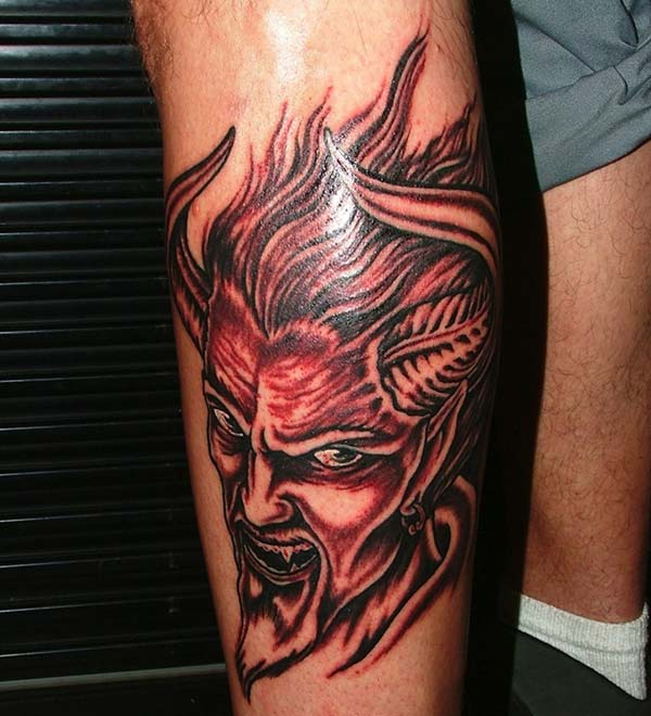Devil Tattoo for men makes them look spruce