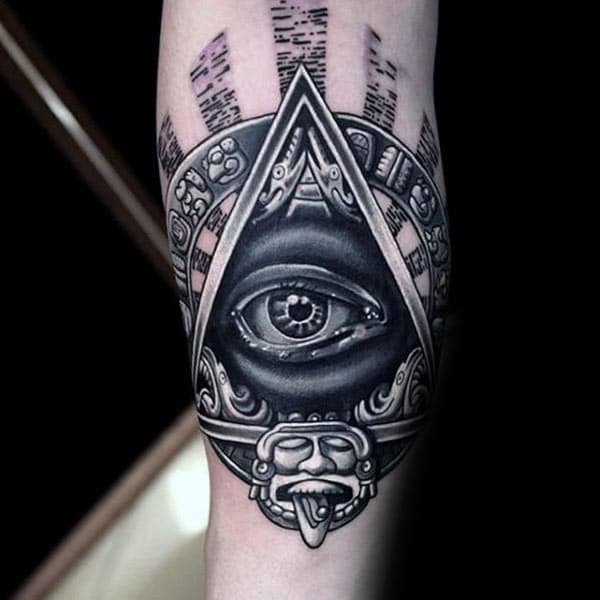 Cool Eye of God Tattoo design idea for boys