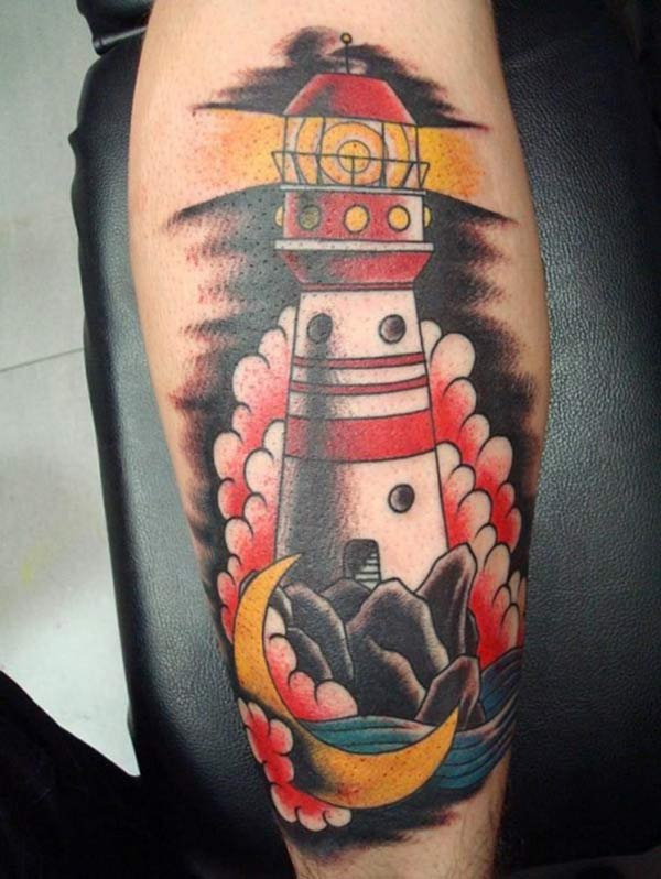 Lighthouse Tattoo on the lower arm make a man look cool
