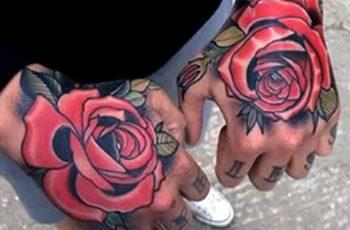 Tattoi Rose i Ddynion