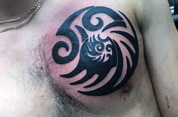 ጎሳ / Chest Tattoos for Men