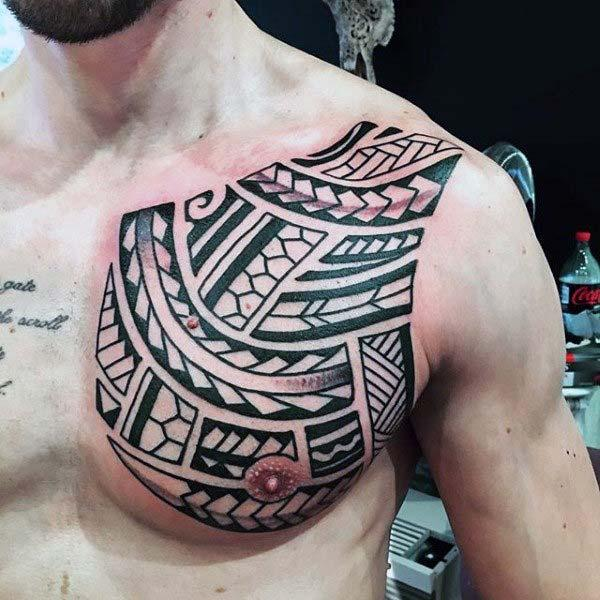Chest Polynesian tattoo tattoo designs mo Guys