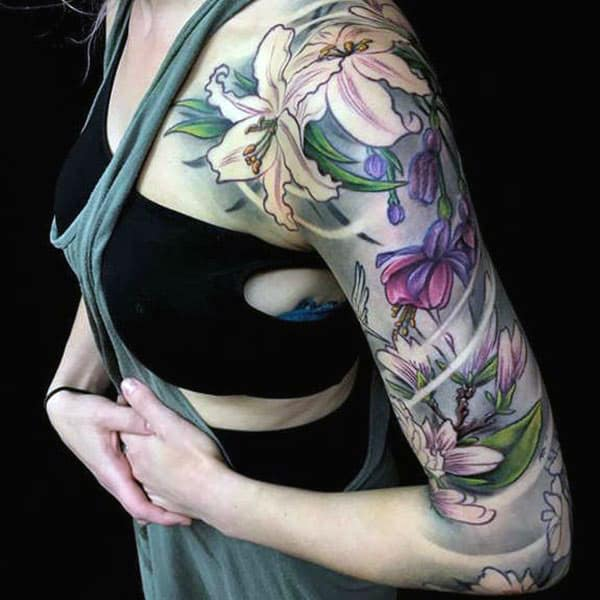 Arm tattoo on the left upper arm brings the exquisite look