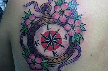 Bescht Compass Tattoo