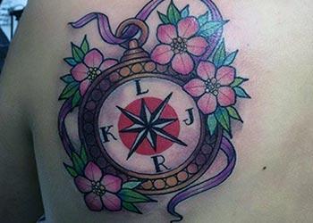 Best compass tattoo