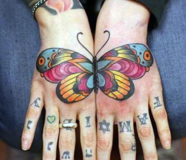 Butterfly tattoo around the wrist brings about the memory or makes it as a reminder
