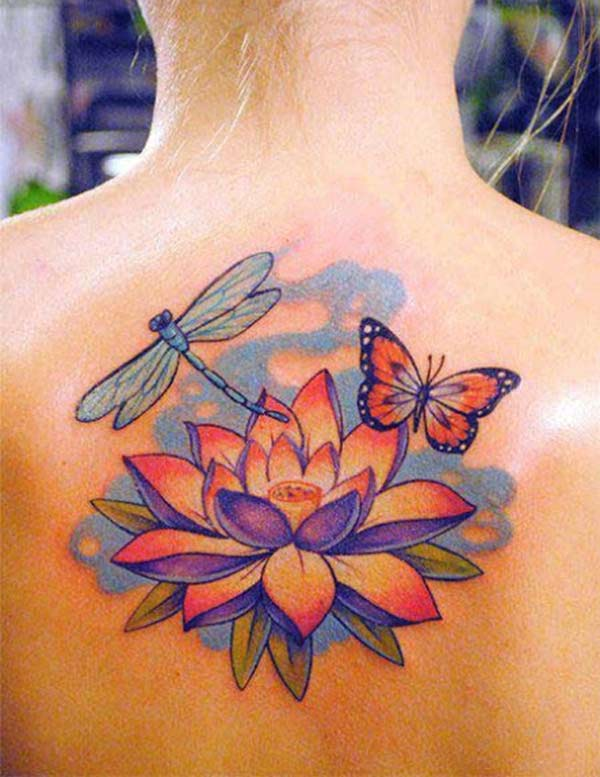 Tattoo on Lotus Flower Lot on exit look