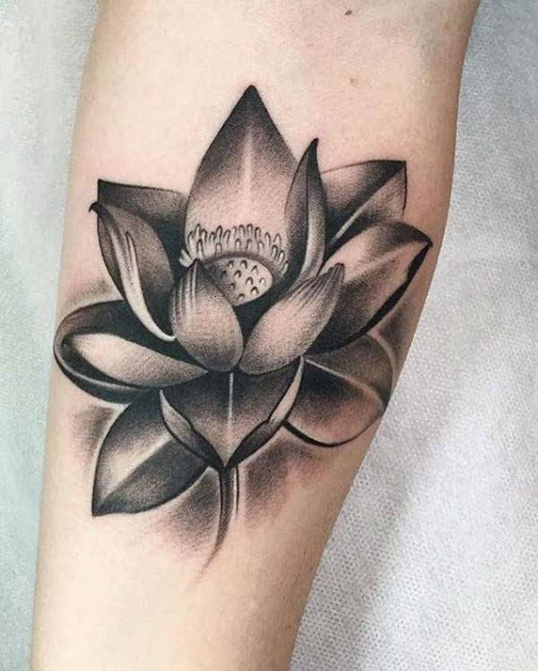 Girls go for a Lotus Flower tattoo on their arm to bring their pretty look.