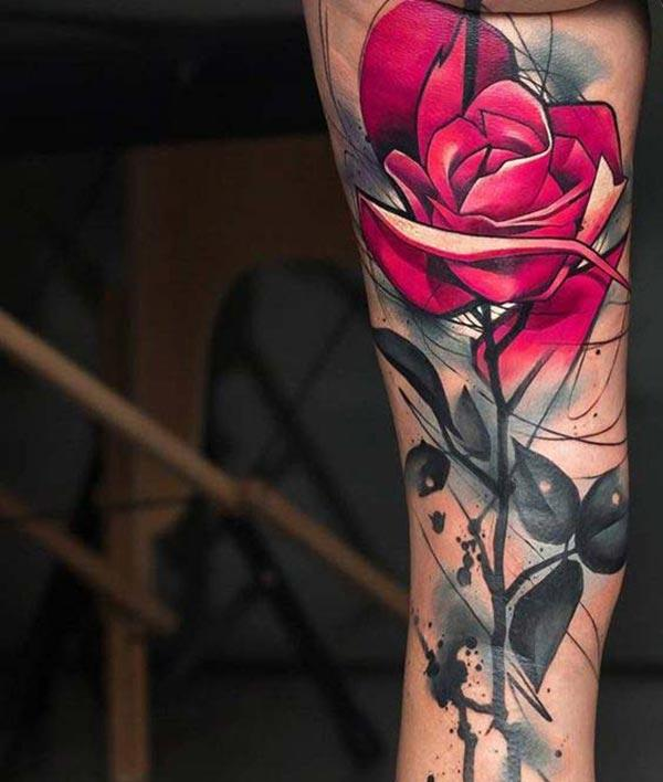 Rose tattoo on the arm brings the astonishing look