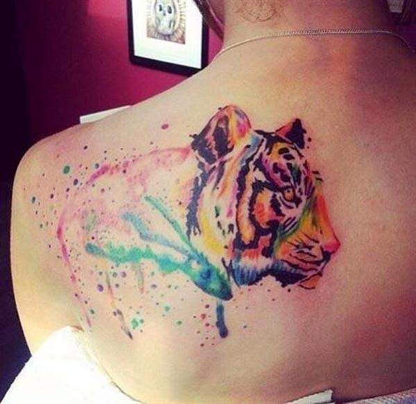 Tiger-eye-catchy-water-water-back-back tattoo-ideas-ideas-for-female-female-cat cat-lovers