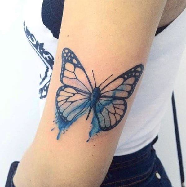 Tattoo Designs For Girls On Hand: Cool Water Color Hand Tattoos For Girls