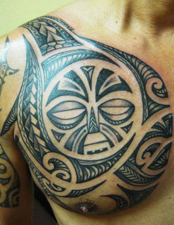 Aw-inspiring Enata Filipino Tribal tattoo ideas on front shoulder for Guys