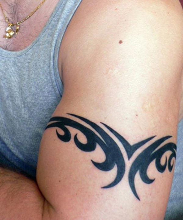 Armband tattoo cool tribal armband tattoo for men for Solid armband tattoos